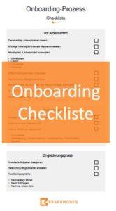 Onboarding Prozess Checkliste
