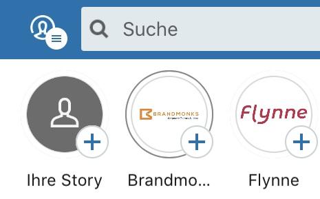 LinkedIn Story Menü